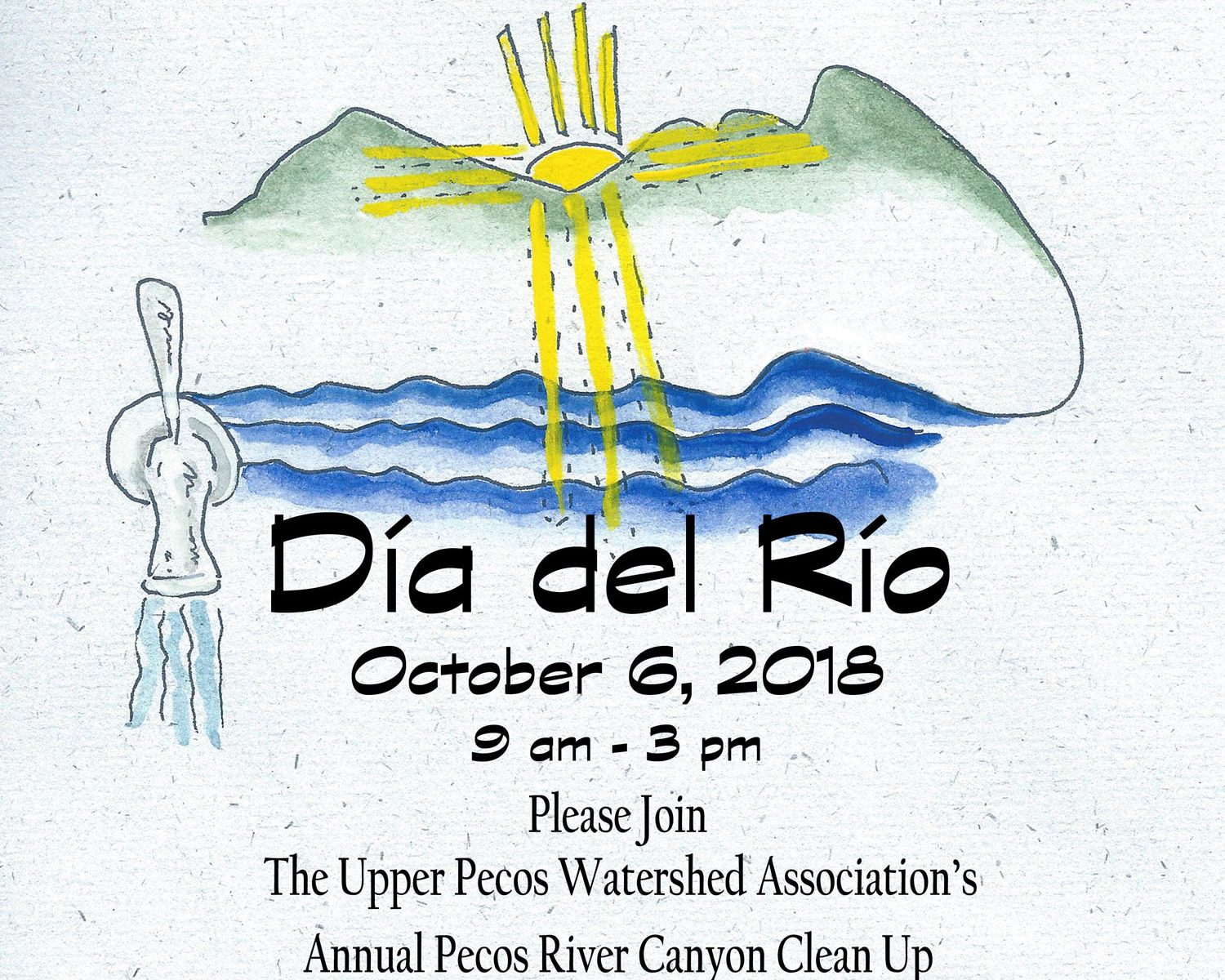 Upper Pecos Watershed Association - Dia del Rio Pecos River canyon clean up