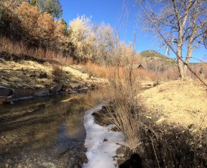 Lower Cow Creek post construction at Acequia Segura