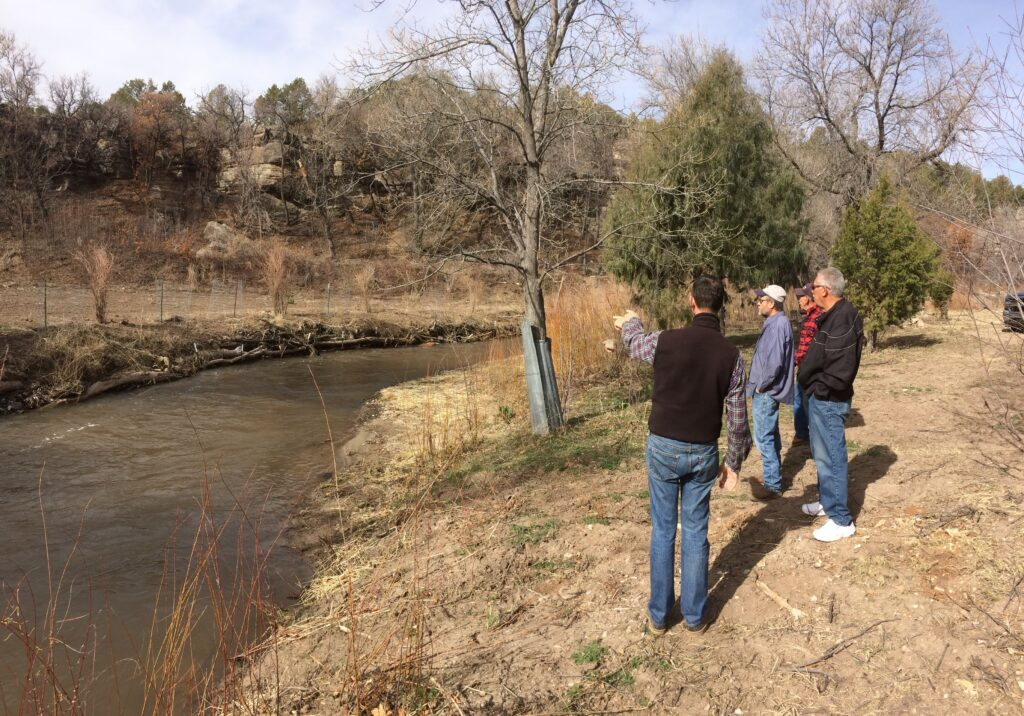 Lower Cow Creek landowners field workshop 2 - acequia site
