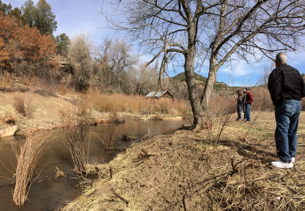 Lower Cow Creek landowner field workshop - acequia area restored 3