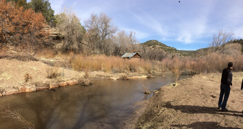 Lower Cow Creek landowner field workshop - acequia area restored 2